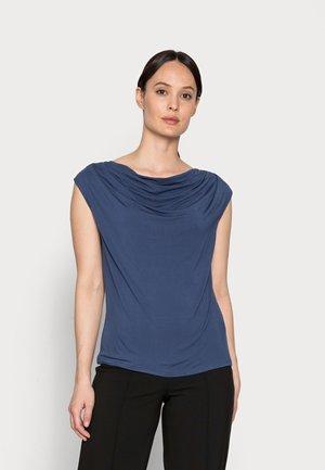 Print T-shirt - denim blue