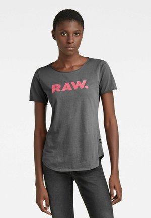 RAW. SLIM GRAPHIC - Print T-shirt - magna