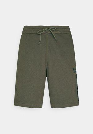 TAPE SHORT - Träningsshorts - army green