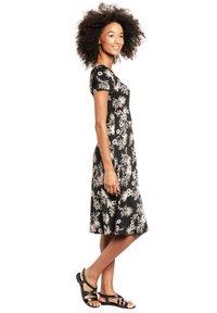 Vive Maria - TROPICAL BLOSSOM - Jumper dress - schwarz allover - 1