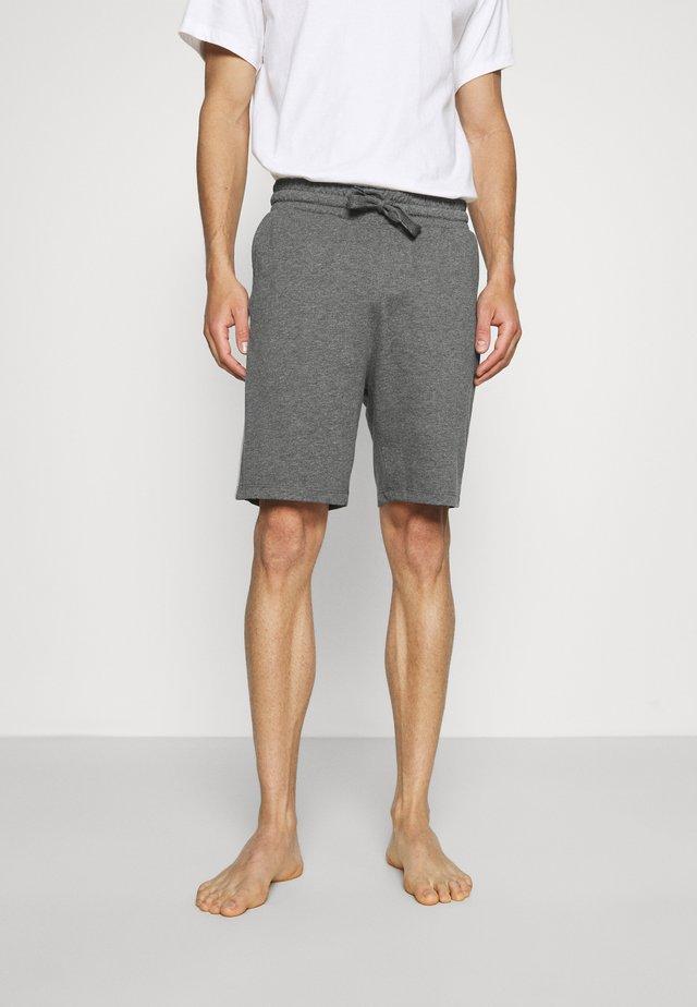 LOUNGE STRIPED SHORTS - Pyjama bottoms - mottled dark grey/mottled grey