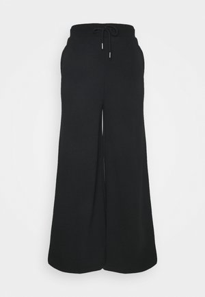 Wide Leg Tracksuit Bottoms - Tracksuit bottoms - black