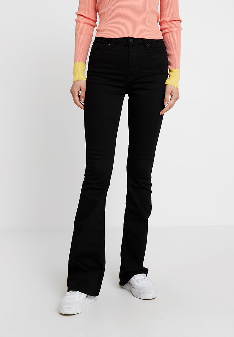 Kings Of Indigo - MARIE - Jeansy Bootcut - stay black