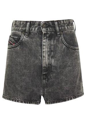 D-ISI-SHORT - Denim shorts - washed black