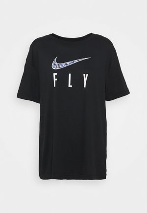 DRY FLY TEE - T-shirts med print - black