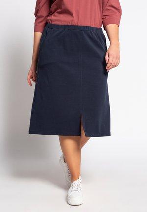A-line skirt - dunkles marine