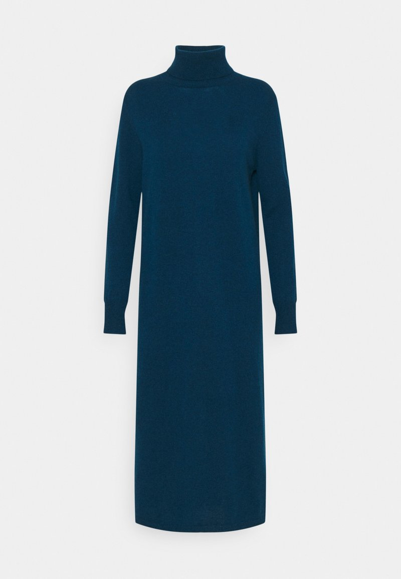 pure cashmere - TURTLENECK DRESS - Maxi dress - rich teal