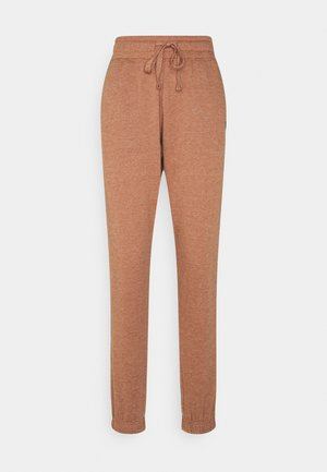LIFESTYLE GYM TRACK PANTS - Tracksuit bottoms - cashew marle