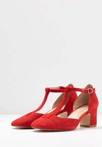 Anna Field - LEATHER PUMPS - Classic heels - red - 4