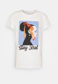 JDYRACHEL LIFE - T-shirt z nadrukiem - cloud dancer