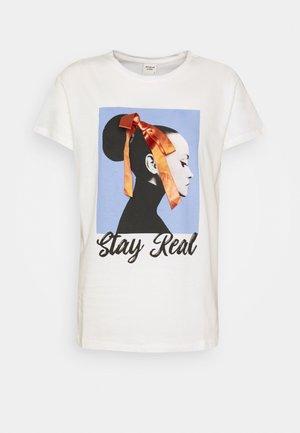 JDYRACHEL LIFE - Camiseta estampada - cloud dancer