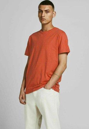 Print T-shirt - mecca orange