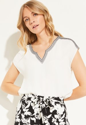 MIT EMBROIDERY - Print T-shirt - white