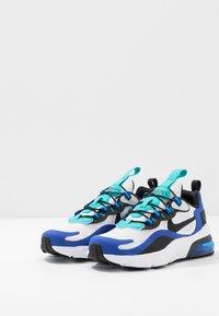 Nike Sportswear - NIKE AIR MAX 270 RT BP - Sneakers basse - white/black/hyper blue/oracle aqua - 3