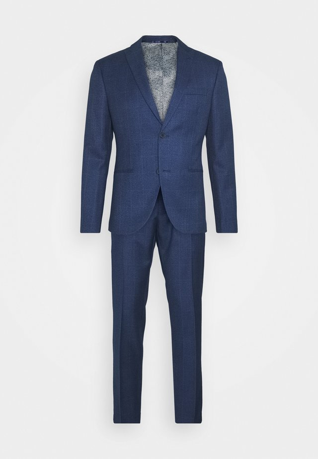 CHECK SUIT - Kostuum - blue
