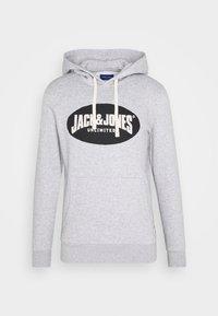 Jack & Jones - JOR30HISTORY HOOD - Hoodie - light grey melange/black - 3