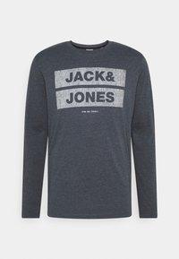 Jack & Jones - JJDENIMTEE CREW NECK - Long sleeved top - navy blazer - 0