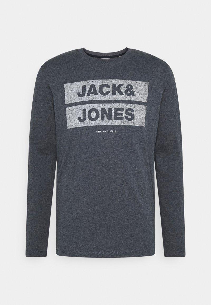 Jack & Jones - JJDENIMTEE CREW NECK - Long sleeved top - navy blazer