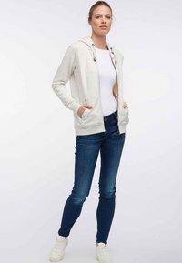 DreiMaster - Zip-up hoodie - white melange - 1