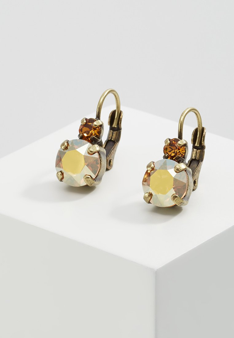 Konplott - BALLROOM - Earrings - brown/yellow