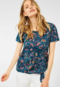Cecil - MIT PAISLEY - Print T-shirt - blau - 0
