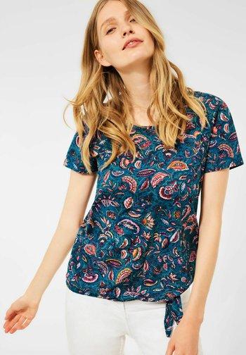 MIT PAISLEY - Print T-shirt - blau