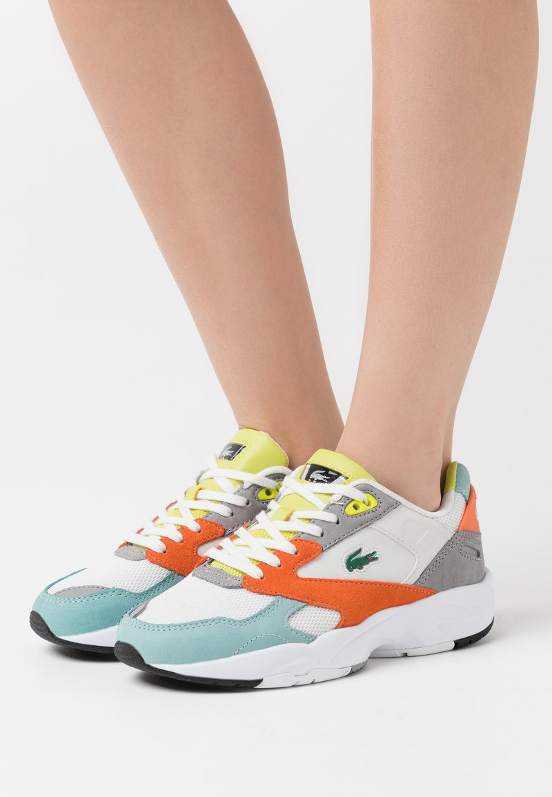 Lacoste - STORM  - Baskets basses - orange/light green
