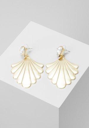 WAY PENDANT EAR - Örhänge - gold-coloured/clear