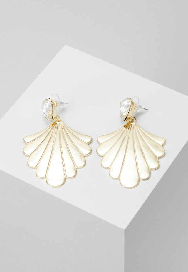 WAY PENDANT EAR - Earrings - gold-coloured/clear