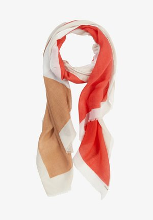 Scarf - red graphic print