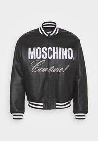 MOSCHINO - Leather jacket - black - 2