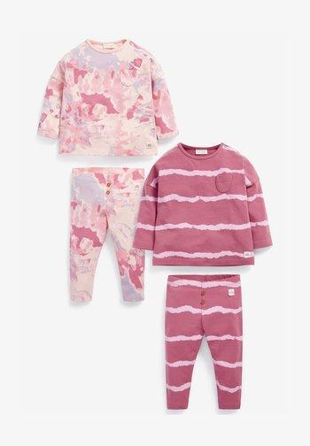 4 PIECE SET - Leggings - Trousers - pink