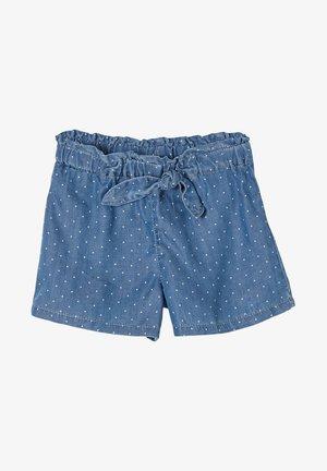 Denim shorts - tone blue denim