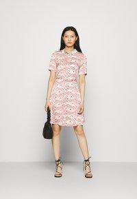 Fabienne Chapot - MILA DRESS - Shirt dress - white/pink - 1