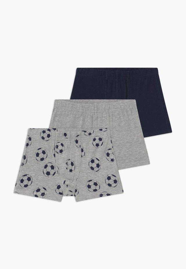 NKMTIGHTS FOOTBALL 3 PACK  - Boxerky - grey melange