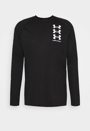 TECH TRIPLE LOGO - Sports shirt - black/white