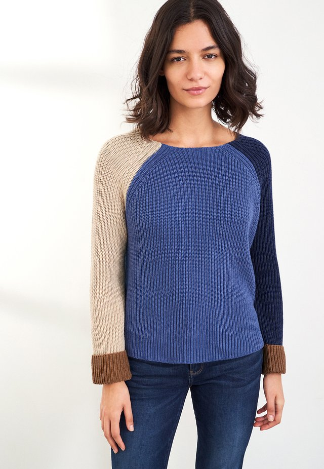 Pullover - blau mehrfarbig