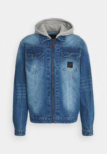 HOODED JACKET UNISEX - Denim jacket - blue
