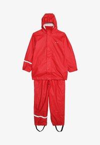 CeLaVi - BASIC RAINWEAR SUIT SOLID - Pantalones impermeables - red - 7
