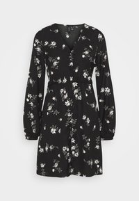 Vero Moda - VMFALLIE TIE DRESS - Skjortekjole - black - 9