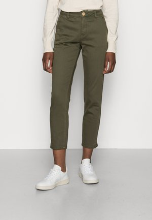 ALBA CROPPED PANTS - Chinos - olive night