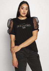 River Island Plus - J'ADORE - Camiseta estampada - black - 0