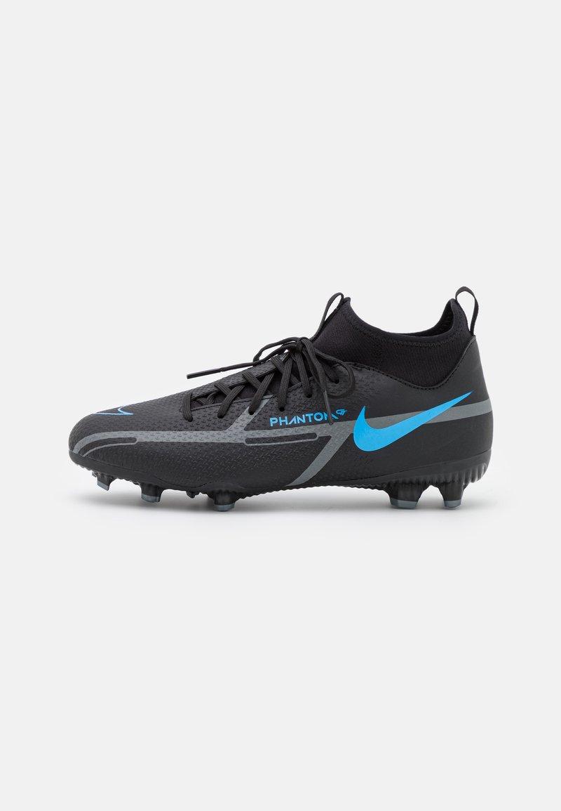 Nike Performance - JR PHANTOM GT2 ACADEMY DYNAMIC FIT FG/MG UNISEX - Astro turf trainers - black/iron grey