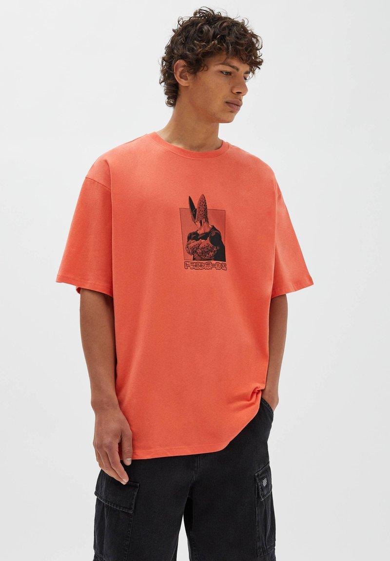 PULL&BEAR - Print T-shirt - orange