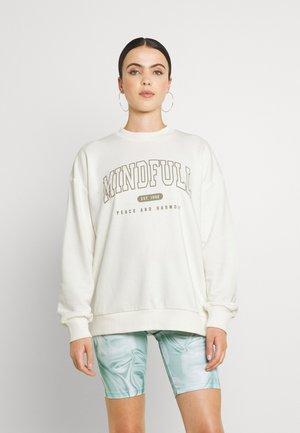 MINDFULL PRINTED - Collegepaita - off white