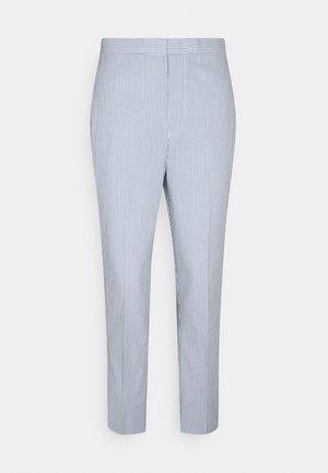 SEERSUCKER - Trousers - blue/white