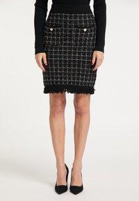 faina - Pouzdrová sukně - schwarz - 0