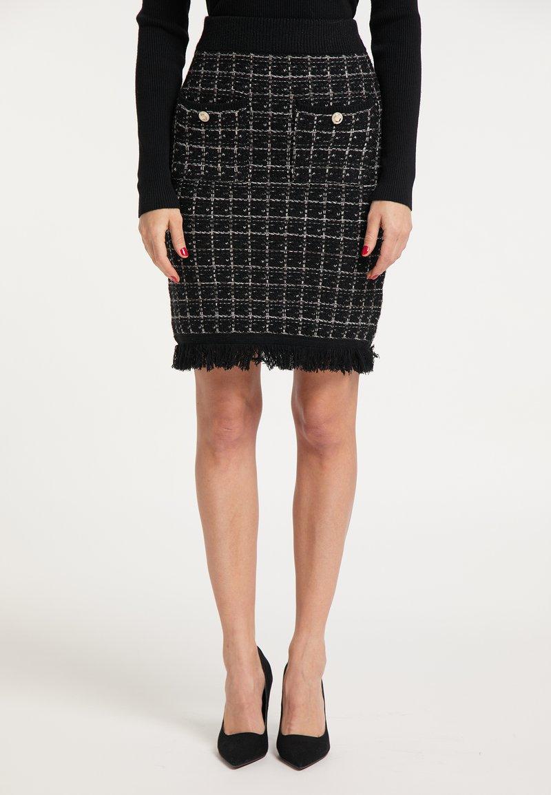 faina - Pouzdrová sukně - schwarz