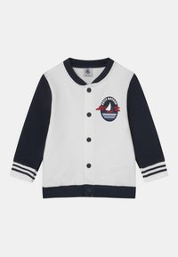 Petit Bateau - Zip-up hoodie - marshmallow/smoking - 0
