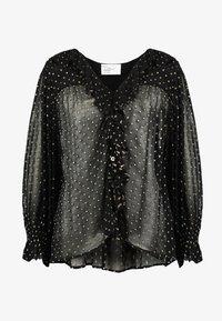 Leon & Harper - CHAMPETRE DOTS - Button-down blouse - black iris - 4